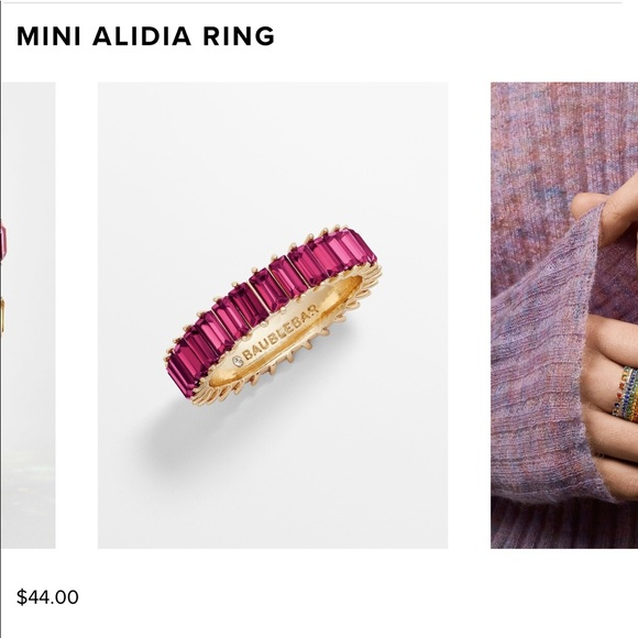 Baublebar Mini Alidia Ring in Fuschia